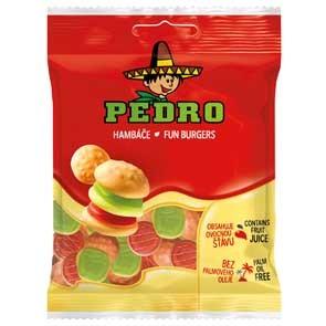 Pedro gumicukor 80g hamburger