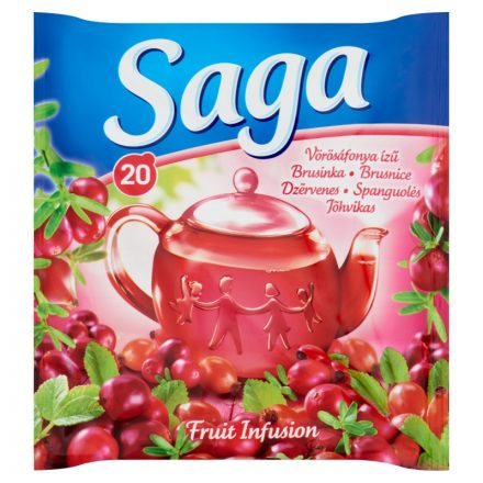 Saga Gyümölcstea Vörösáfonya ízű 34g