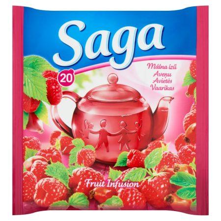 Saga Gyümölcstea Málna ízű 34g