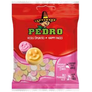 Pedro gumicukor 80g happy faces