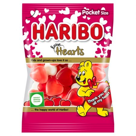Haribo gumicukor Love Hearts 100g